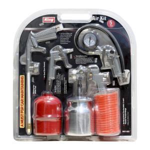 King Tools & Equipment 0431-0 5-Piece Air Tool Set