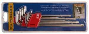King Tools & Equipment 0522-0 9-Piece Hex Key Set With Clip