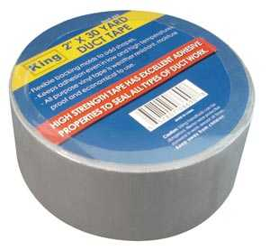 King Tools & Equipment 0669-0 Duct Tape 2 in X30 ft