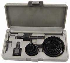 King Tools & Equipment 0923-0 Hole Saw Set 3/4to21/2 11pc