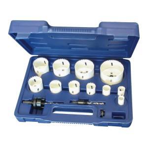 King Tools & Equipment 0924-0 Hole Saw Set Bi Metal 14pc White