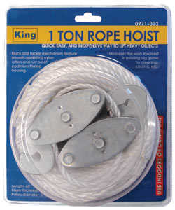 King Tools & Equipment 0971-0 Hoist Rope 1-Ton