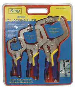 King Tools & Equipment 1190-0 C Clamp Locking Set 2,3,4 in 3pc