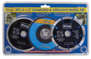 King Tools & Equipment 1395-0 Blade Set Diam&abrasive 41/2 in