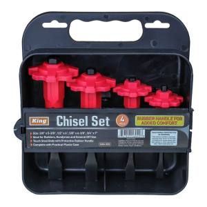 King Tools & Equipment 1604-0 Chisel Set 4pc