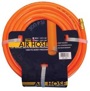 King Tools & Equipment 0802-0 PVC Air Hose 3/8 in X25 ft