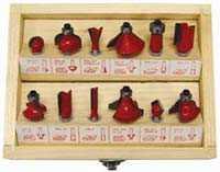 King Tools & Equipment 2000-0 Router Bit Set 12pc