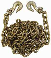 King Tools & Equipment 2092-0 G-70 Tow Chain With Hooks 3/8 in 20 ft
