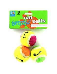 KOLE IMPORTS DI146 Cat Toy Mini Tennis Balls