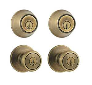 Kwikset 242T 5 CP Tylo Antique Brass Project Pack
