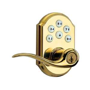Kwikset 99110-007 911 L03 Smt SmartCode Lever Polished Brass