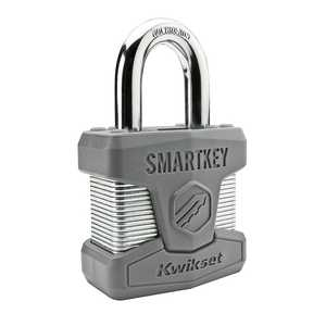 Kwikset 90260-001 SmartKey Padlock 2 in Standard Shackle Ka6