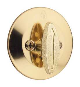 Kwikset 663 3 CP One Sided Deadbolt Polished Brass
