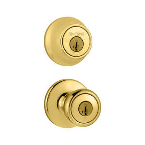 Kwikset 690T 3 CP Tylo Polished Brass Combo Pack