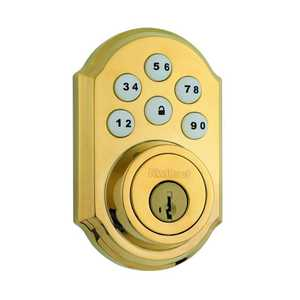 Kwikset 909 L03 CP Electronic Smart Code Deadbolt Lifetime Polished Brass