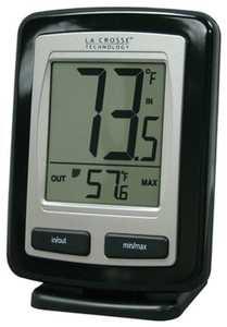 LA CROSSE TECHNOLOGY LTD WS-9009BK-ITCBP Black Wireless Weather Station Thermometer