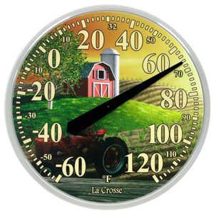 LA CROSSE TECHNOLOGY LTD 104-114-FARM 13.5 in Dial Thermometer With Farm