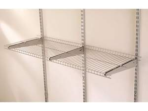 Rubbermaid FG5E21-FTSNCKL 4-Food X 16-Inch Satin Nickel Wire Shelf