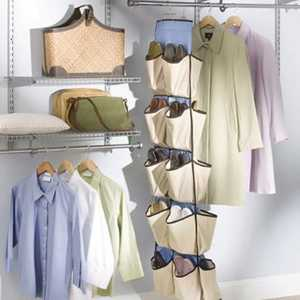 Rubbermaid 3F2002NATUR Shoe Hanger Organizer 20 Pocket