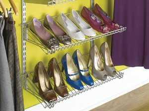 Rubbermaid 3H9403WHT White Add-On Shoe Shelf Kit