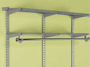 Rubbermaid 3Q7400GRAY 47-1/2-Inch Gray FastTrack Upright Rail Hardware Pack