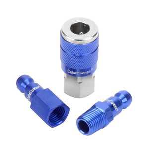 ColorConnex A72452C 3-Piece Type C Coupler And Plug Kit