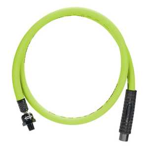 Flexzilla HFZ3804YW2B Whip Hose With High Flow Ball Swivel 3/8 In X4 Ft