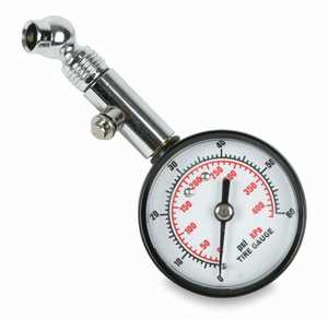 Legacy TH0308 Tire Gauge with Dial, Angle Chuck, and Bleeder