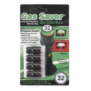 Gas Saver TH0401 Low Air Pressure Indicating Tire Valve Caps 32 PSI