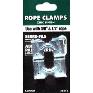 Lehigh 7045-6 Clamp Rope Zinc For 3/8&1/2 Rope