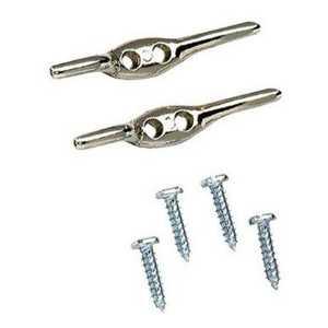 Lehigh 7240-12 Rope Cleat 4-1/2 Nickel