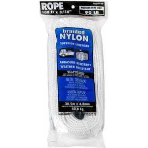 Lehigh ND6100-18 Rope Nylon 3/16x100 Ft White