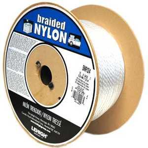Lehigh SNR126 Rope Nylon #12x600 Ft White Per Ft