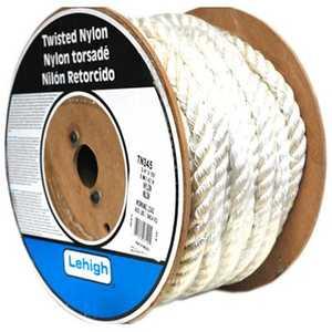 Lehigh TN230 Rope Twist 1/2x300 Ft Nylon White Per Ft