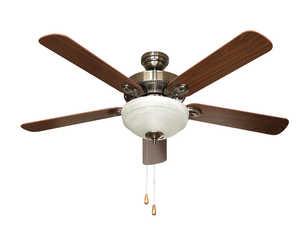 Litex E-TDL52CB5C1W 52 in Ceiling Fan 5 Blade Caribbean Brass