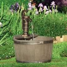 Little Giant Outdoor Living 566740 Fa-Wb-W Whiskey Barrel W/120pump