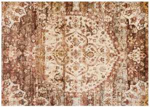 LOLOI AF-06 Anastasia Power Loomed Rug Rust /Ivory 5 ft 3 in X7 ft 8 in