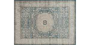 LOLOI CQ-01 Century Power Loomed Rug Blue/Sand 7 ft 10 in X10 ft 6 in