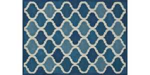 LOLOI BT-07 Brighton Hand Tufted 100% Wool Rug Cobalt Blue 5 ft X7 ft 6 in