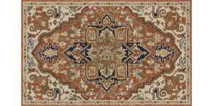 LOLOI UN-02 Underwood Hooked 100% Wool Rug Rust/Stone 5 ft X7 ft 6 in