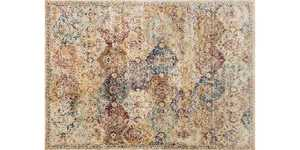 LOLOI AF-12 Anastasia Power Loomed Rug Ivory/Multi 7 ft 10 in X10 ft 10 in