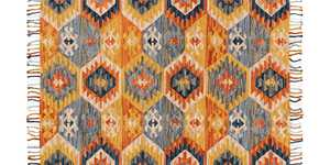 LOLOI BI-05 Brushstroke Hooked 100% Wool Rug Santa Fe Spice 2 ft 3 in X3 ft 9 in
