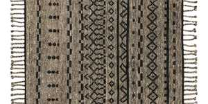 LOLOI TF-03 Tulum Hand Knotted 100% Wool Rug Graphite/Black 2 ft X3 ft