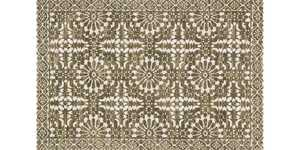LOLOI LB-02 Lotus Power Loomed Rug Antique Ivory /Olive 5 ft X7 ft 6 in