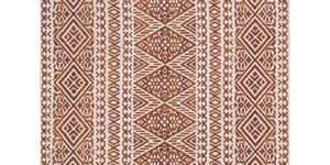 LOLOI LB-04 Lotus Power Loomed Rug Antique Ivory /Rust 5 ft X7 ft 6 in