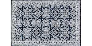 LOLOI LB-05 Lotus Power Loomed Rug Midnight /Silver 5 ft X7 ft 6 in