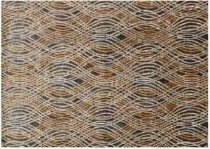LOLOI DM-02 Dreamscape Power Loomed Rug Charcoal /Gold 6 ft 7 in X9 ft 2 in