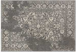 LOLOI EB-01 Emory Power Loomed Rug Charcoal /Ivory 5 ft 3 in X7 ft 7 in