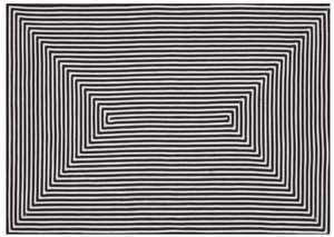 LOLOI IO-01 In/Out Braided Rug Black 5 ft X7 ft 6 in
