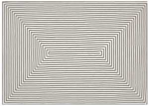 LOLOI IO-01 In/Out Braided Rug Grey 5 ft X7 ft 6 in